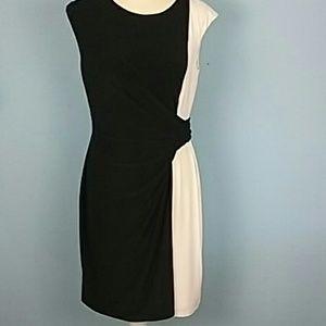 Ralph Lauren career dress 12p fitted drapeblack